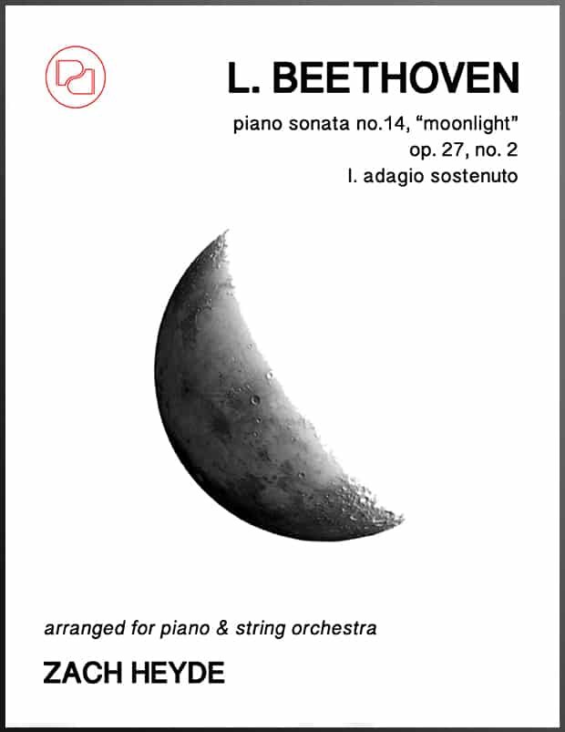 The Moonlight Sonata (arr  piano & strings)